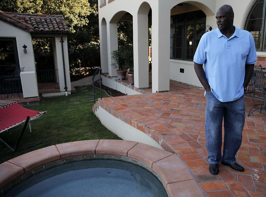 Back in October 2015, Adonal Foyle discussed the steps he has taken to conserve water at his Orinda, Calif. home, after showing up on a list of water wasters from the East Bay Municipal Utility District. Photo: Michael Macor, The Chronicle