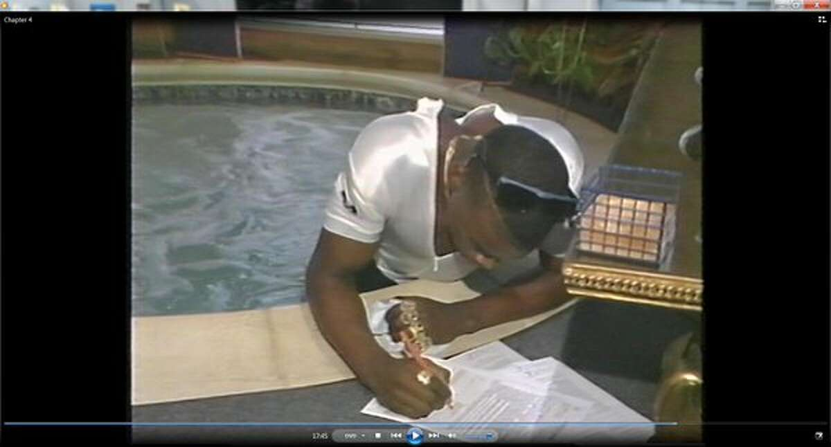 About the time Derric Evans was signing a college letter of intent in a hot tub, he was involved with other Dallas Carter students in a string of robberies.