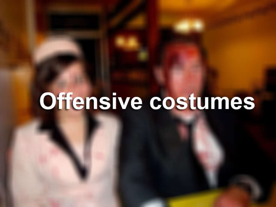 Cultural appropriation and other offensive costume ideas.