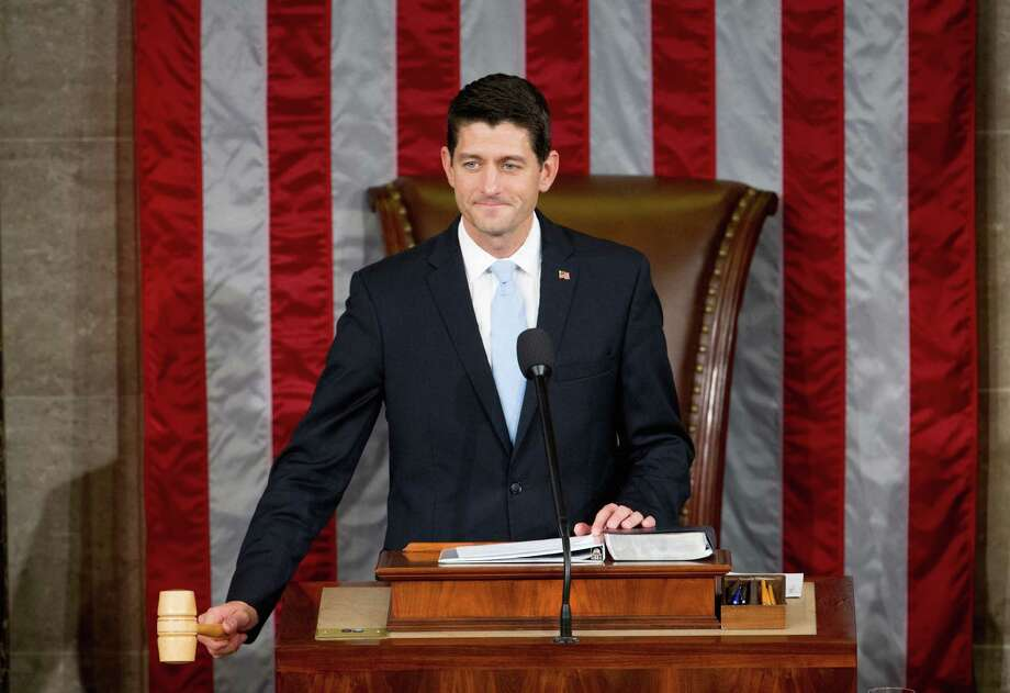 Newly elected House Speaker Paul Ryan of Wis., gavels in the House Chamber on Capitol Hill in Washington, Thursday, Oct. 29, 2015. Republicans rallied behind Ryan to elect him the House's 54th speaker on Thursday as a splintered GOP turned to the youthful but battle-tested lawmaker to mend its self-inflicted wounds and craft a conservative message to woo voters in next year's elections. (AP Photo/Andrew Harnik) ORG XMIT: DCAH152 Photo: Andrew Harnik / AP
