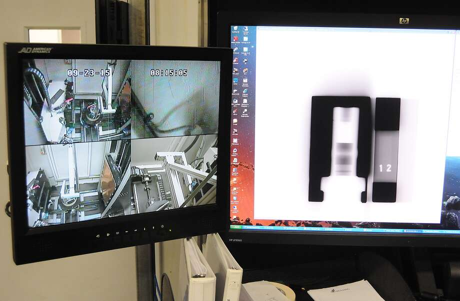 Steve Cantu x-rays the finished products looking for defects at Hunting Energy's Subsea Division.