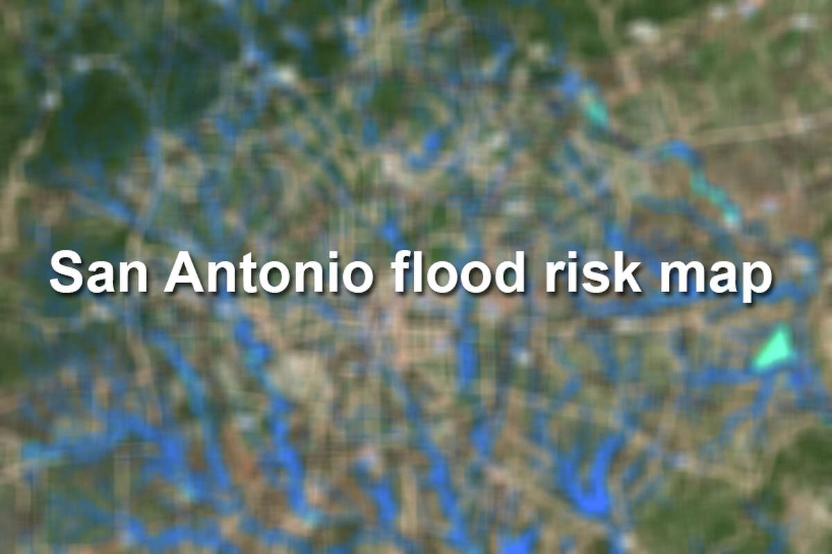 San Antonio floodplains and flood risks, according to maps provided by the San Antonio River Authority.