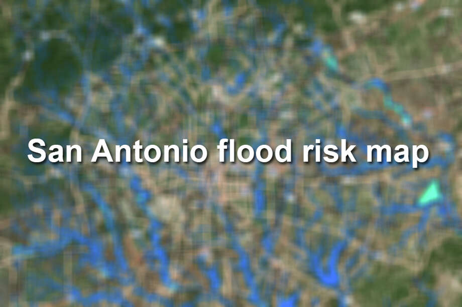San Antonio floodplains and flood risks, according to maps provided by the San Antonio River Authority. Photo: SARA
