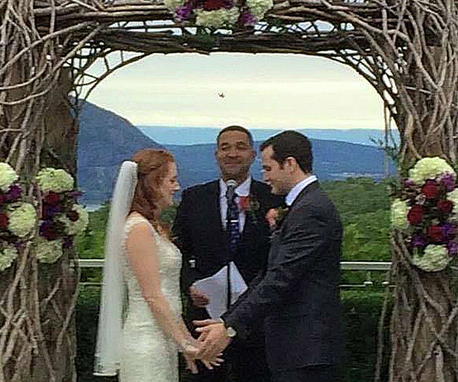 Karen Marie Levinstim and Benjamin Henry Nissim were married Oct. 3. Photo: Contributed Photo / Westport News
