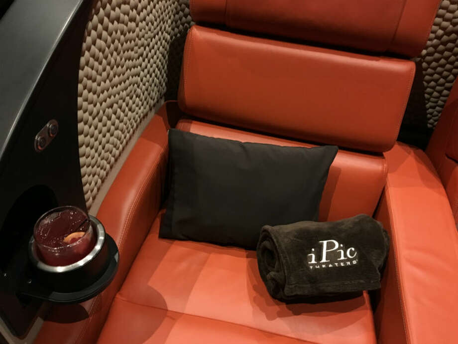 This week Houstonians got a first look at the iPic movie theater in the tony River Oaks District. The theater, surrounded by upscale shops like Hermes, Dior, and Cartier, is aiming to be the most lavish movie watching experience in Houston. Photo: Craig Hlavaty