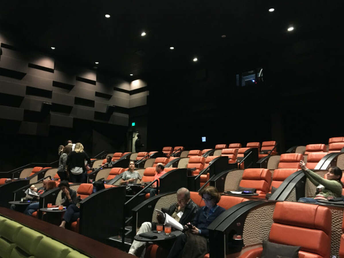 The official opening isn't until next Friday, Nov.6, but it's currently in its soft opening phase. Last night members of the Houston media got a chance to check out the eight-screen iPic movie house for themselves for a showing of this past summer's dinosaur blockbuster