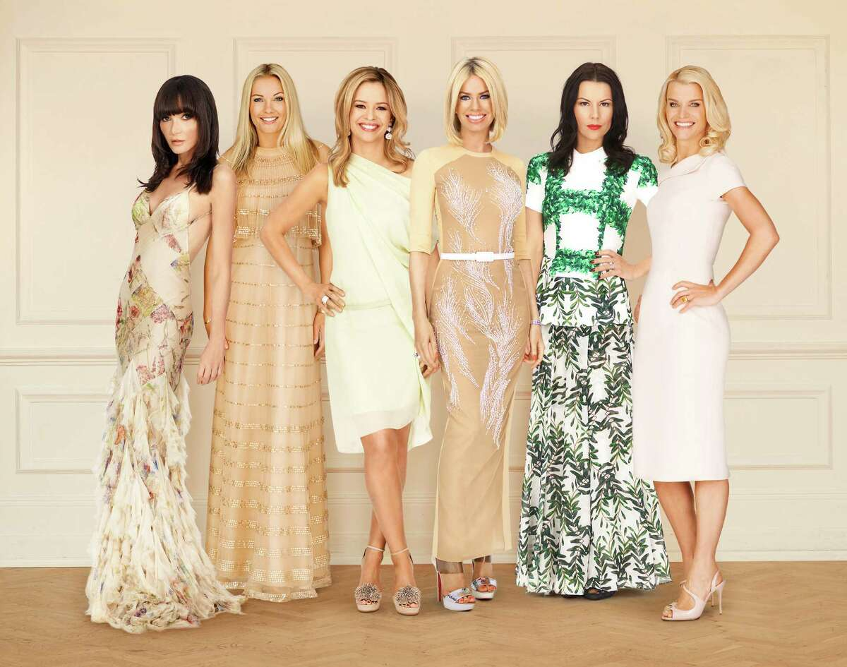 "Bravo's ""Ladies of London"" stars Annabelle Neilson, from left, Caroline Fleming, Marissa Hermer, Caroline Stanbury, Juliet Angus and Julie Montagu."