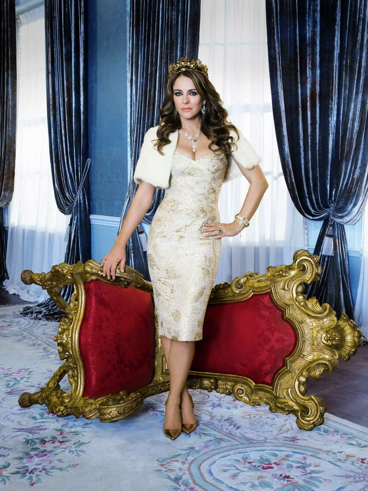 """Elizabeth Hurley stars as Queen Helena on E!'s """"The Royals."""""""