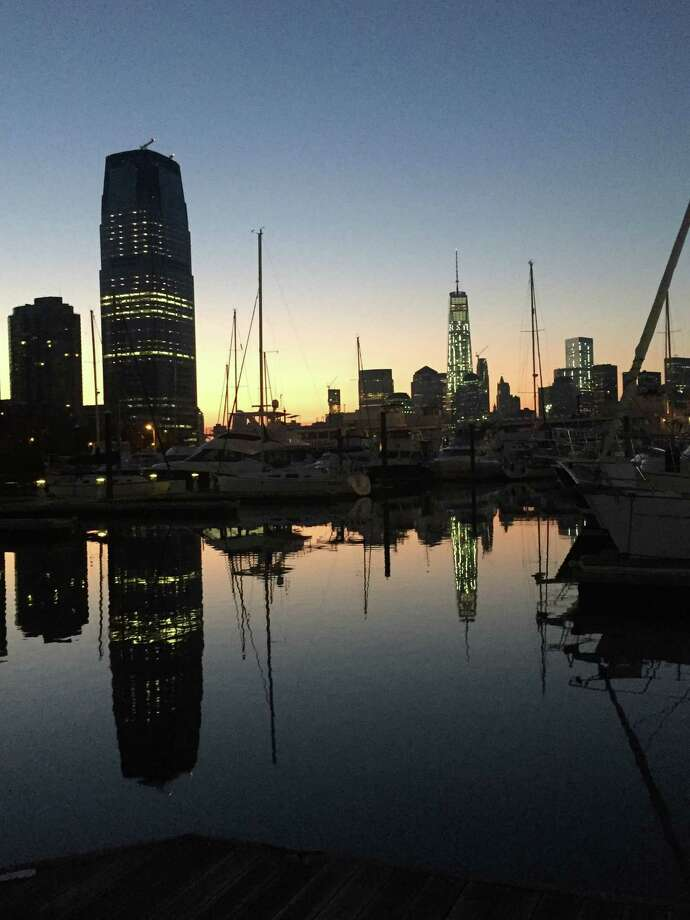 The New York skyline at sunset from Liberty Marina in Jersey City, New Jersey. Photo: By Linda Hardberger / For The Express-News