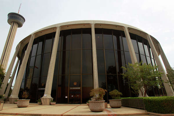 The John H. Wood, Jr. U.S. Courthouse at HemisFair Park is on Cesar Chavez Boulevard and was originally built to serve as the Confluence Theatre for HemisFair '68. Preservation Texas recently listed it as one of the most endangered places in Texas.