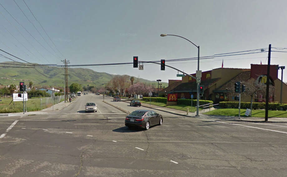 A pedestrian was killed early Friday when he was struck by a SUV on North Milpitas Boulevard just north of Dixon Road. Photo: Google Maps