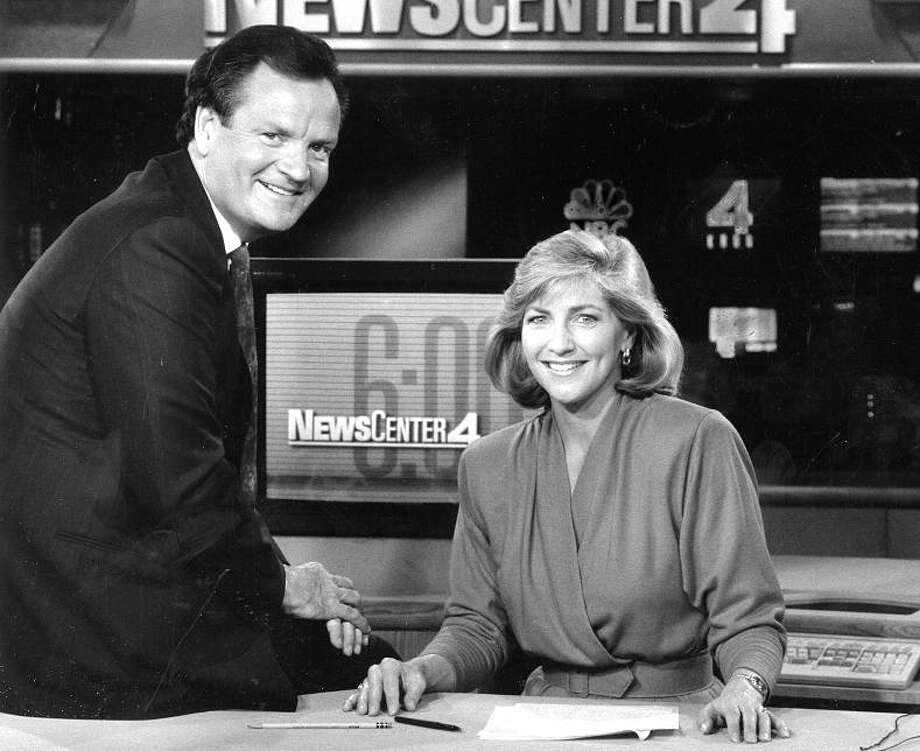 SUZANNE SHAW and PETE WILSON: I received several requests for Shaw, who was also known as Suzanne Saunders. Her file included what looks like a photo from a high school formal dance. I chose this 1990 shot with co-anchor Wilson instead. Photo: Lance Iversen, Courtesy KRON / ONLINE_YES