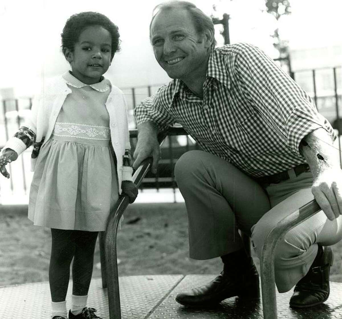 Bay Area television news legends PAT MCCORMICK (Nov. 3, 1974): McCormick told me in an interview that he was happiest doing Charley and Humphrey. So I wasn't surprised to see the KTVU personality really light up for this photo, where he's promoting an adopt-a-child program.