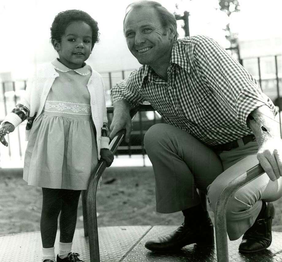 PAT MCCORMICK (Nov. 3, 1974): McCormick told me in an interview that he was happiest doing Charley and Humphrey. So I wasn't surprised to see the KTVU personality really light up for this photo, where he's promoting an adopt-a-child program. Photo: Chronicle File