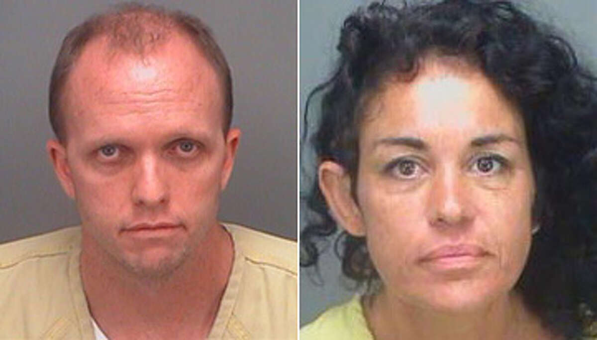 Police say Uber driver Jason Lynch, 42, exchanged a ride in return for oral sex in his vehicle from Elizabeth Santos, 41, in St. Petersburg, Fla.
