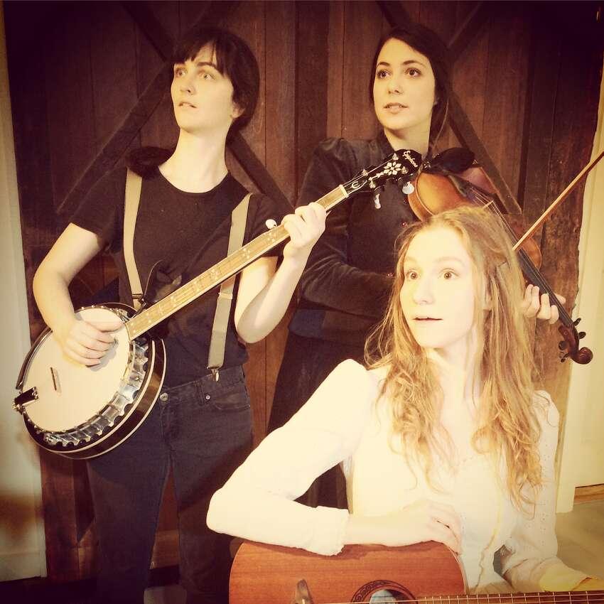 Maizy Broderick Scarpa, Clara Strauch Abigail Wahl rehearse their new musical,