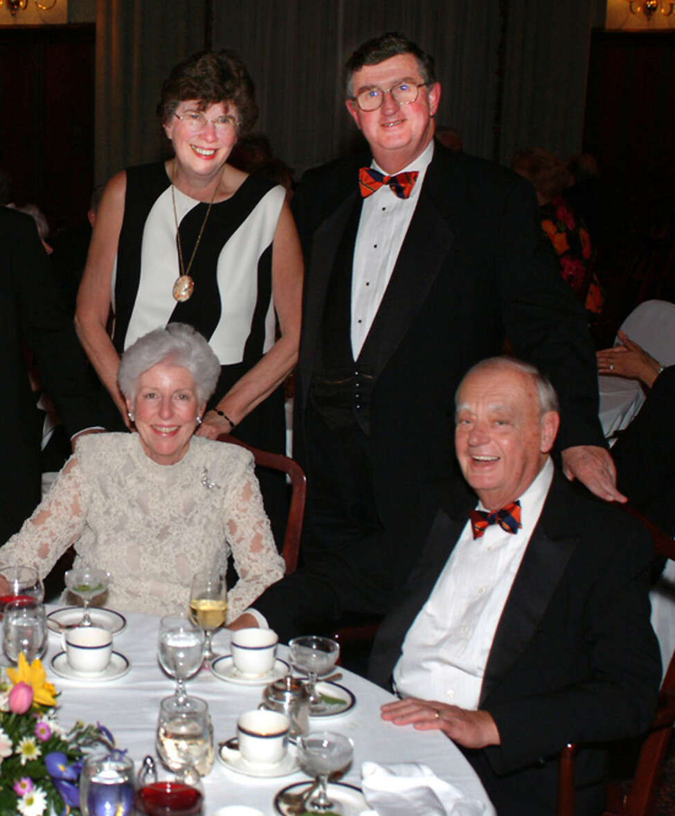 Joanne and Jim Lenden, rear, dine at the Fort Orange Club with their longtime friends, Rhea and Jim Clark in this undated photo. (Photo courtesy of the Fort Orange Club)