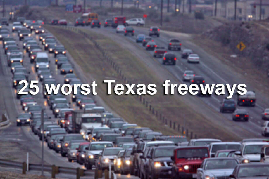According to the 100 most congested roads list compiled by the Texas A&M Transportation Institute, these Texas commutes will cost you the most time (and money). Photo: JOHN DAVENPORT, John Davenport /San Antonio Express-News / jdavenport@express-news.net