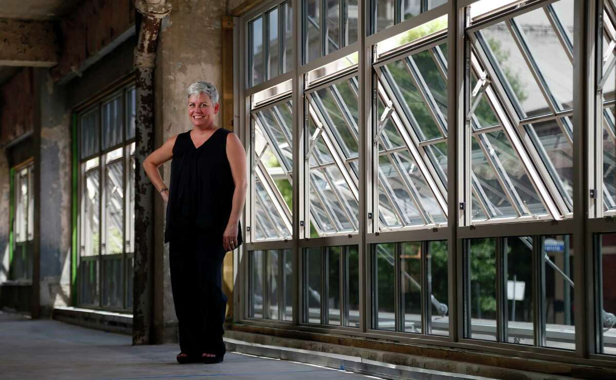 Brooke Summers-Perry stands in the The Bishop John E. Hines Center for Spirituality and Prayer, which will occupy two floors of a 1932 building at 500 Fannin. Summers-Perry is director of the center.