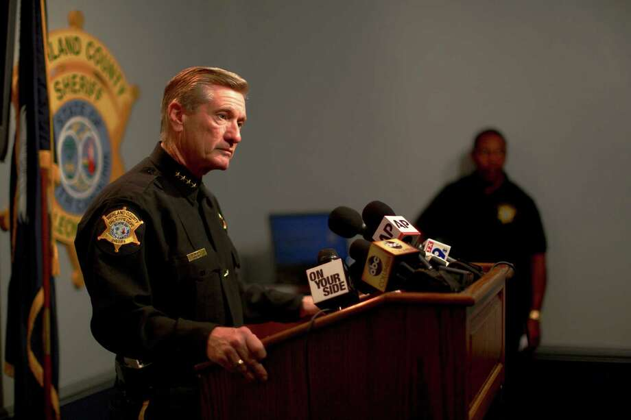 Richland County Sheriff Leon Lott speaks to reporters after an incident at Spring Valley High School, where a white deputy upended and dragged a black girl from a classroom, in Columbia, S.C. In an incident so ugly and tragic, there are no winners, a reader says. Photo: TRAVIS DOVE /New York Times / NYTNS