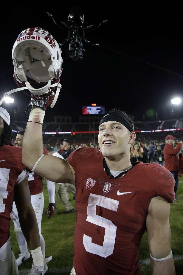 Stanford return master Christian McCaffrey. Photo: Marcio Jose Sanchez, Associated Press