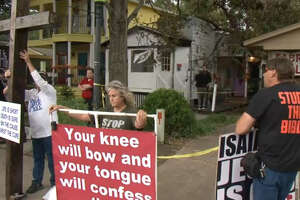 Protests at first service at Greater Church of Lucifer (photos, video) - Photo