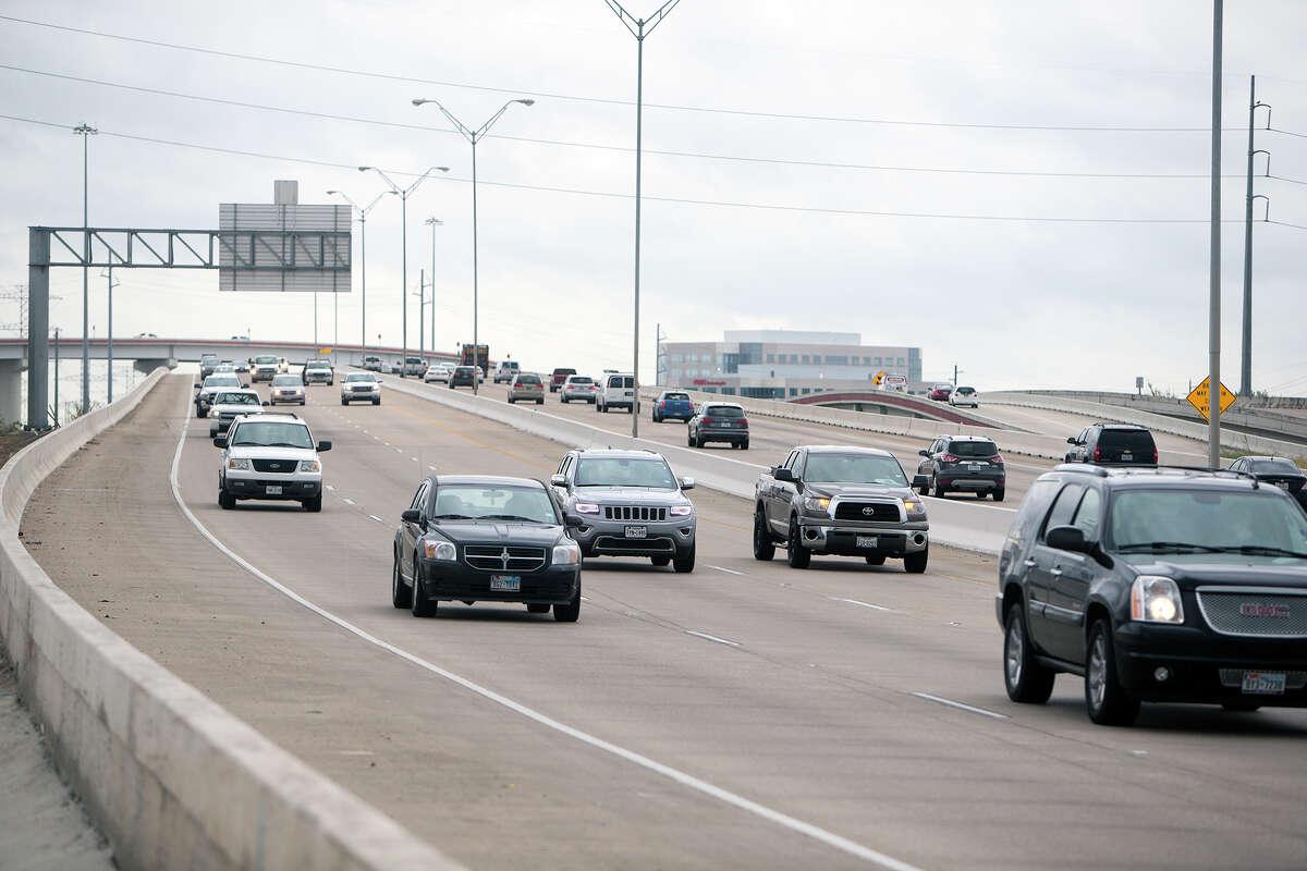 Traffic makes its way along the Sam Houston Tollway near Texas 249 on Oct. 30.