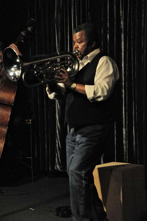 "Wayne Harris in his solo show ""Mother's Milk: A Blues Riff in Three Acts"" at the Marsh Berkeley. Photo: Doug McKechnie"