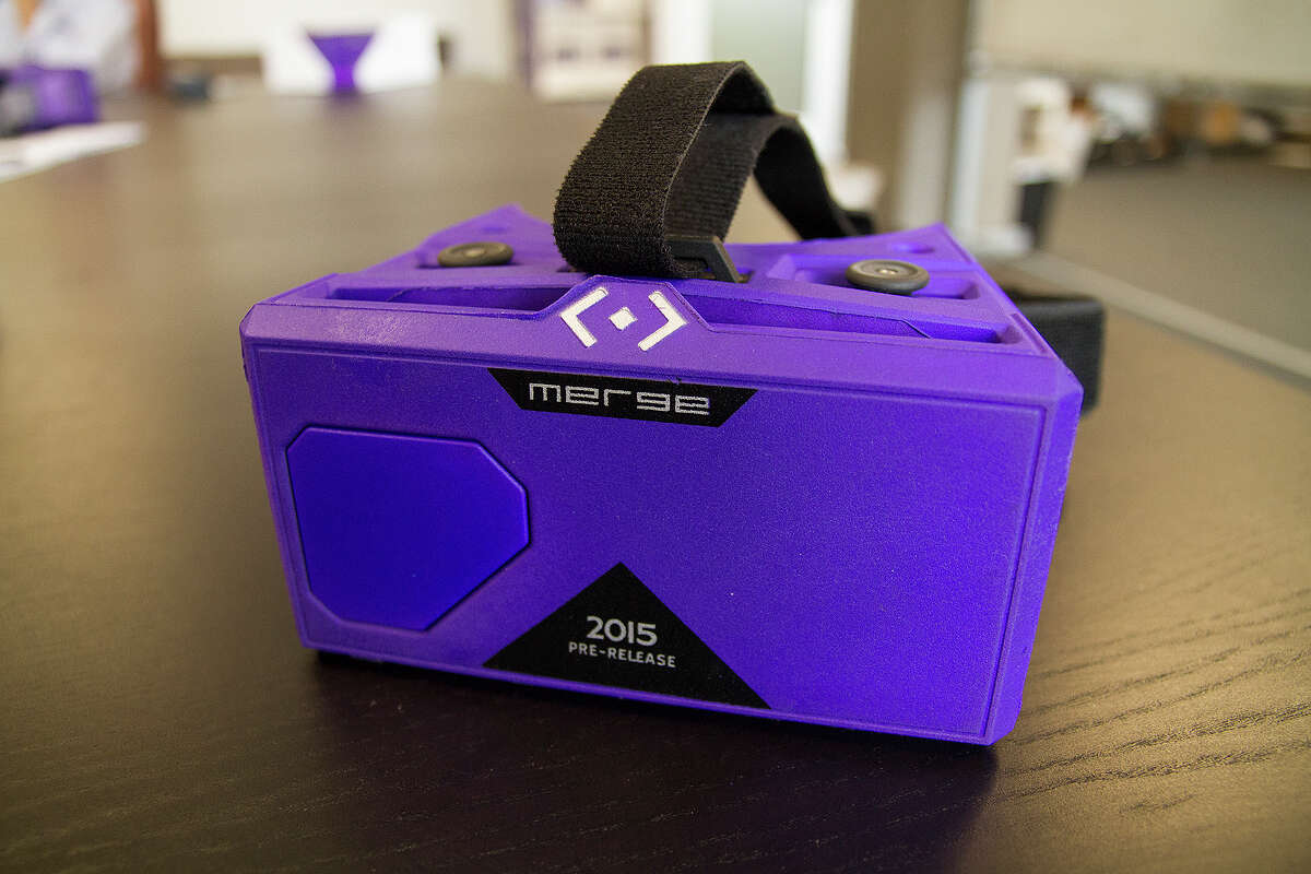 The Merge VR headsets are virtual reality foam goggles powered by a smartphone. The headsets went on sale in the United Kingdom on Friday and are currently on pre-order at Amazon for shipping starting Nov. 15.