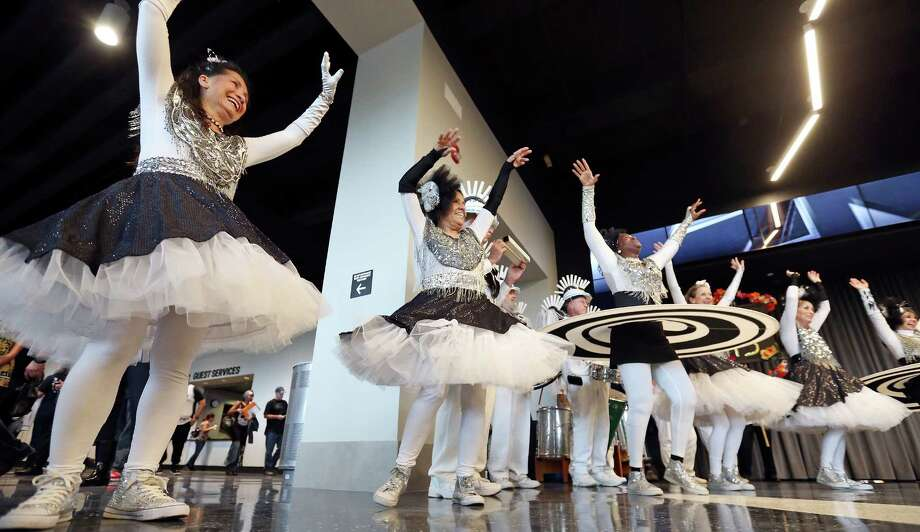 Members of Urban 15 perform during a pregame ceremony for the renovated AT&T Center and the start of the Spurs season before Spurs and Nets game Friday Oct. 30, 2015 at the AT&T Center. Photo: Edward A. Ornelas, Staff / San Antonio Express-News / © 2015 San Antonio Express-News