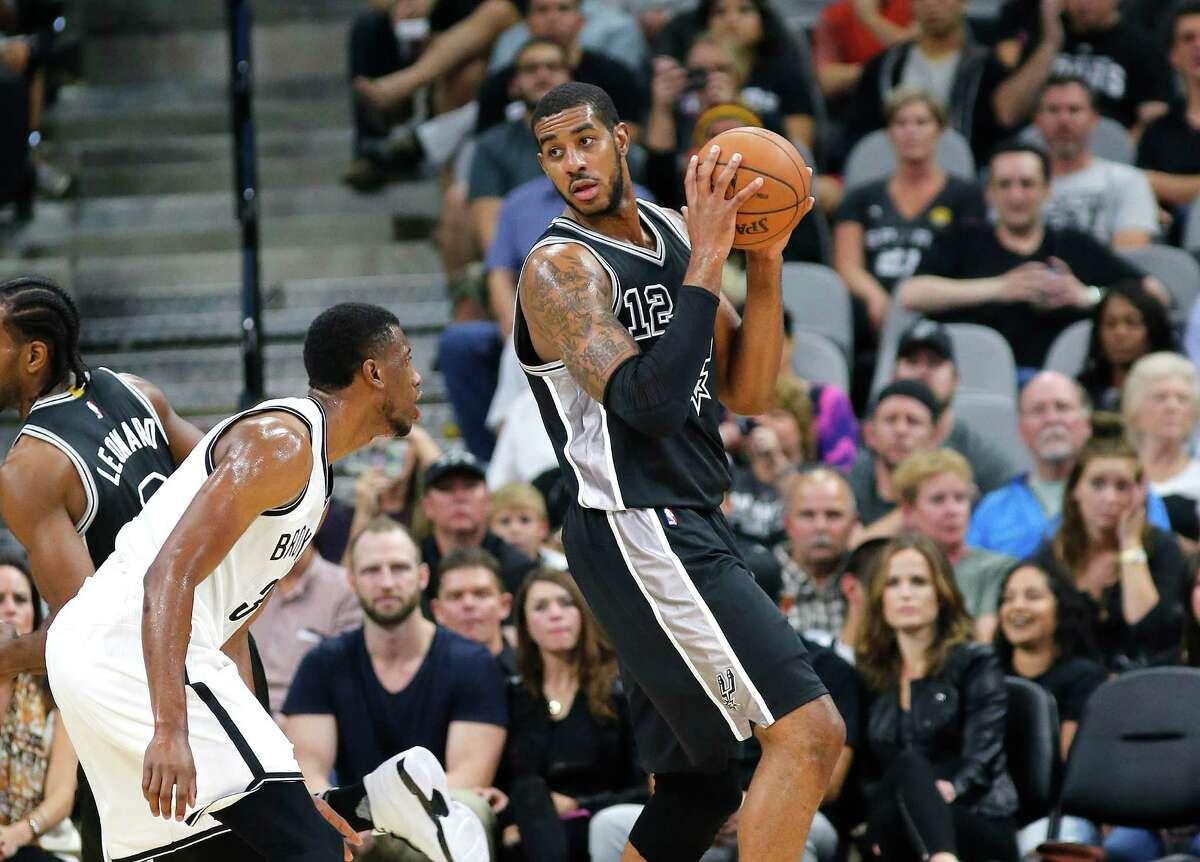 Spurs win vs. Brooklyn102-75 onOct. 30.