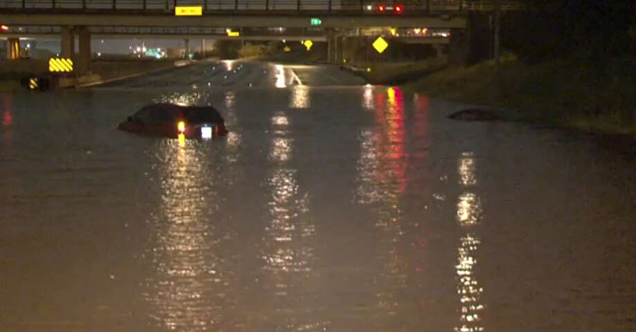October 31: Heavy rains overnight left stretches of Hwy 288 underwater. Photo: Metro Video