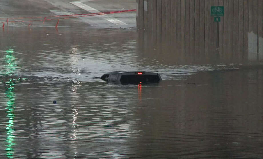 October 31: Crosstimbers is flooded under W. Hardy Road. Photo: Metro Video