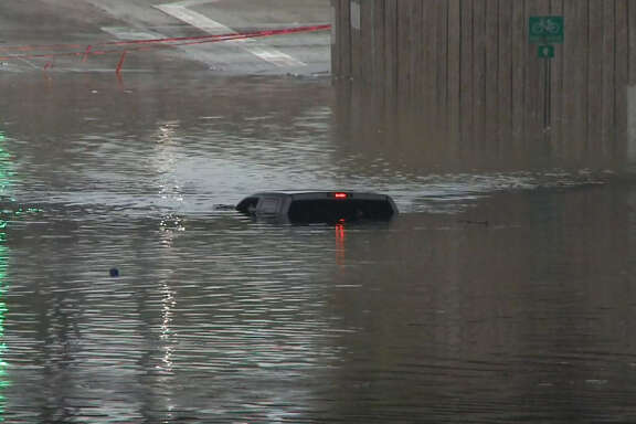 Crosstimbers floods under W. Hardy Road on Halloween 2015.
