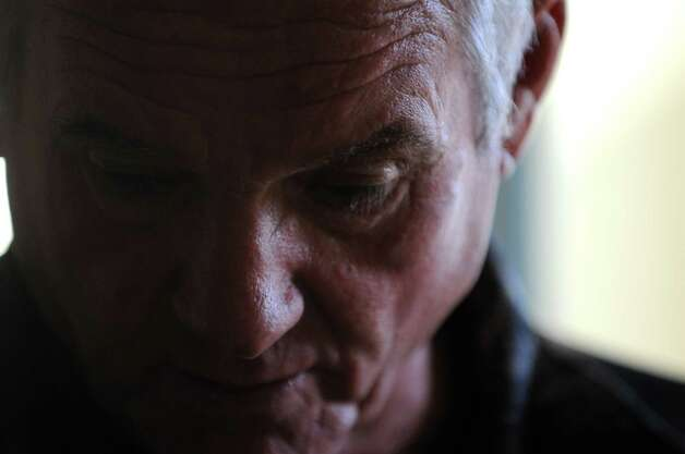 Ralph Perrott is pictured at his Latham home Friday, Oct. 30, 2015, in Colonie, N.Y. Perrott, who has a mentally ill daughter in Albany, is worried that she could end up in an encounter with police that would be similar to the Dontay Ivy incident. Perrott, a retired air force sergeant, planned to join protesters Friday night. (Will Waldron/Times Union) Photo: Will Waldron / 00034017A