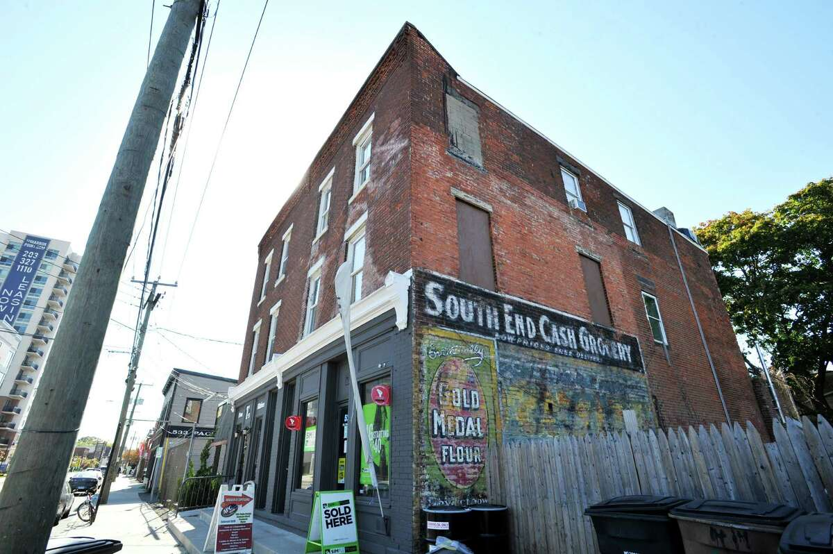 523 Pacific Street is an old, multi-story building built in 1885, on Tuesday Oct. 20, 2015. Some old brick buildings in the South End of Stamford have been preserved and converted into businesses while others are falling apart.