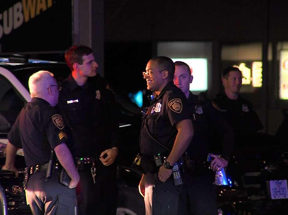 San Antonio Police investigate the scene of a mass robbery on the Northwest Side Sunday, Nov. 1, 2015. Photo: Screen Grab Courtesy 21 Pro Video