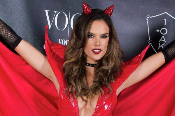 WEST HOLLYWOOD, CA - OCTOBER 31: Model Alessandra Ambrosio attends VO|CO Presents Alessandra Ambrosio's Heaven And Hell Halloween Party At 1OAK Los Angeles at 1OAK on October 31, 2015 in West Hollywood, California.