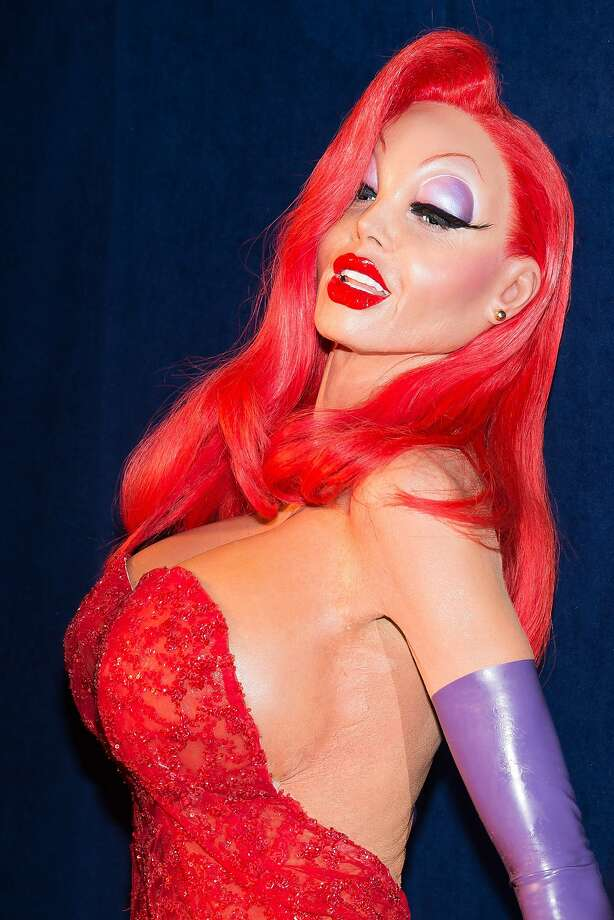 Heidi Klum dressed as Jessica Rabbit for a Halloween party in New York. Photo: Charles Sykes, Associated Press