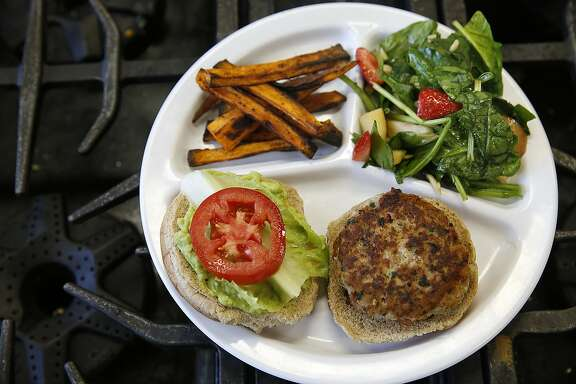 Mount Diablo High School juniors made sweet potato, salad, and turkey burgers at an after school program in Concord, Calif., on Thursday, October 29, 2015.