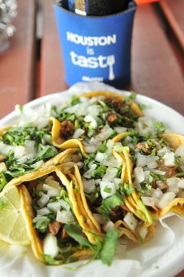 """Tacos al Pastor from Tacos Tierra Caliente which was a stop on a previous """"Where the Chefs Eat"""" Houston Culinary Tours. Photo: Daniel Ortiz, GHCVB / ONLINE_YES"""