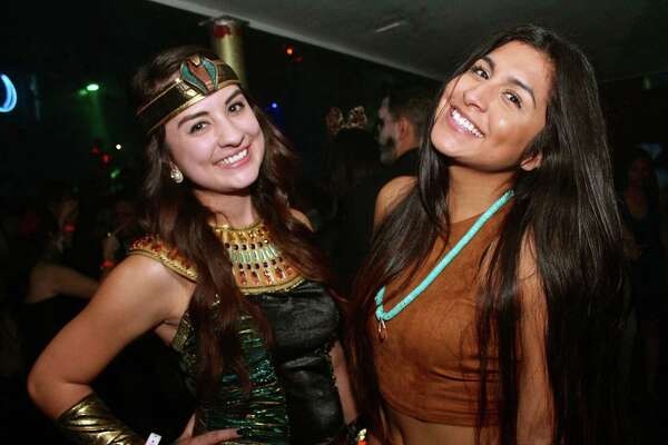 Halloween partiers frolicked amid intense house music and pulsating lights for a spooky night of music, sensuality and libations at the Bonham Exchange Saturday.