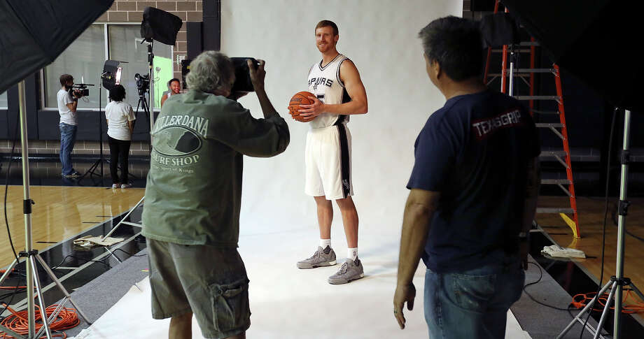 Spurs' Matt Bonner is photographed during media day on Sept. 28, 2015 at the team's practice facility. Photo: Edward A. Ornelas /San Antonio Express-News / © 2015 San Antonio Express-News