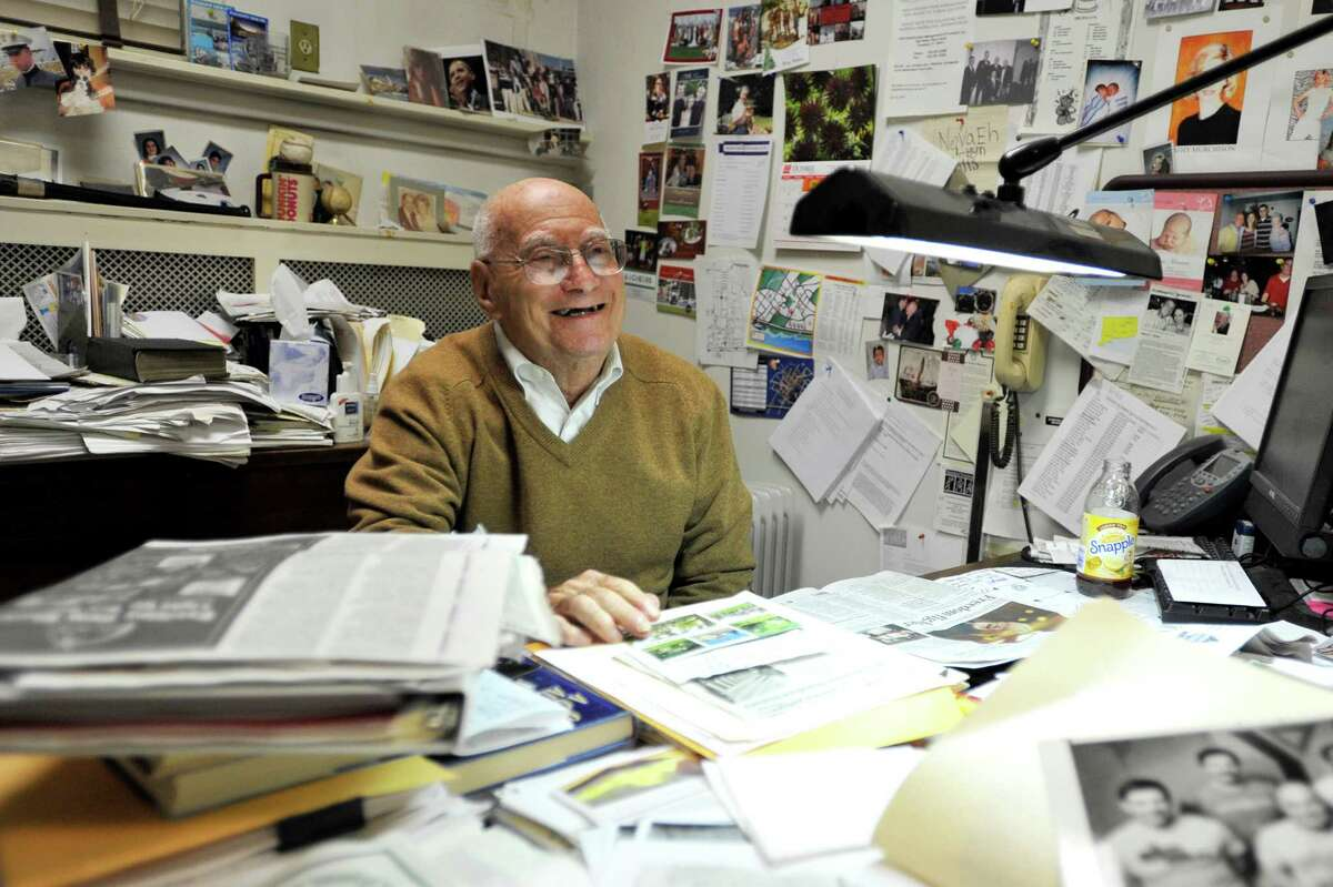 Herb Kohn is a 91-year-old Stamford resident and the head of the State Street Debating Society.