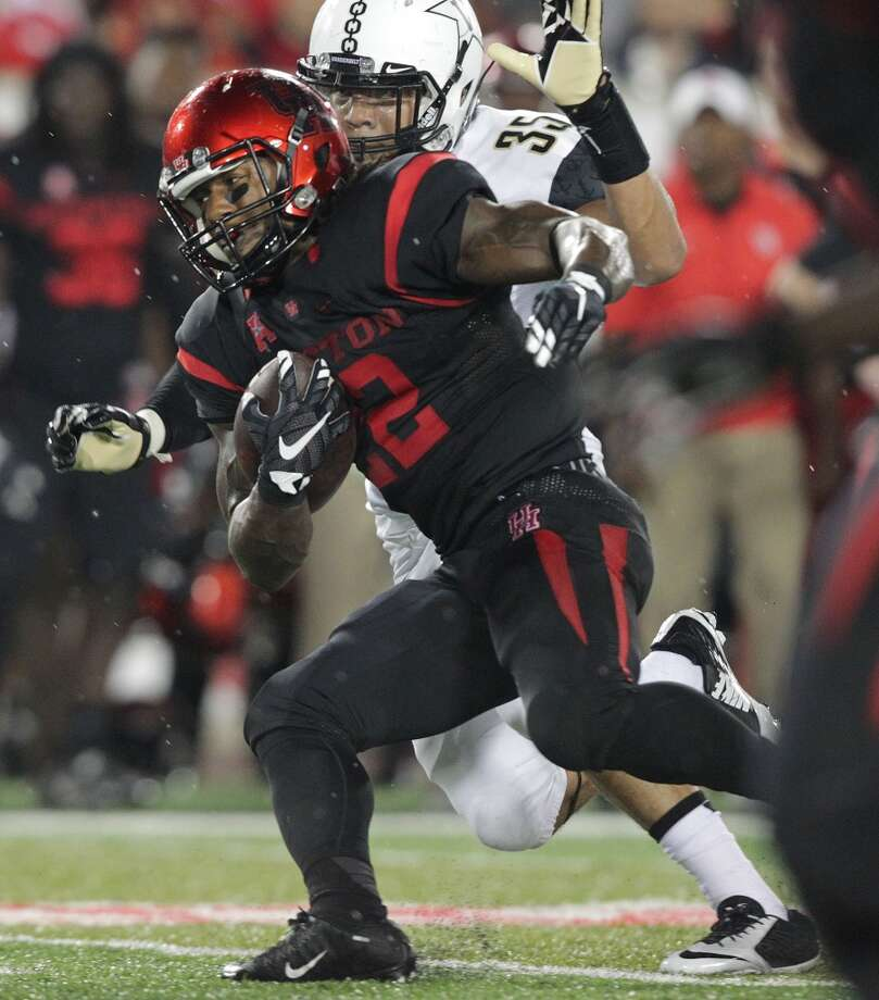 UH's Ryan Jackson rushed for 407 yards and four touchdowns as a senior. Photo: Elizabeth Conley, Houston Chronicle