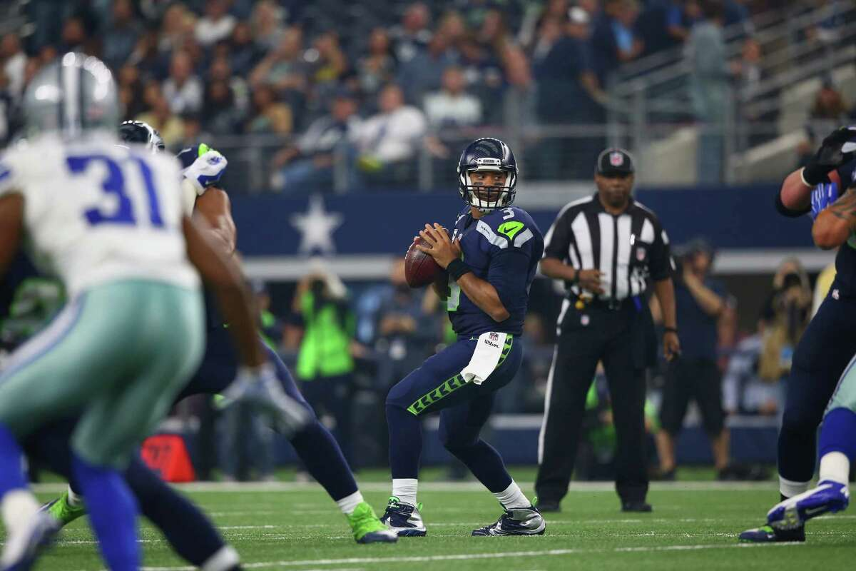 3. Seahawks offensive line plays best game of season The Seahawks offensive line has taken a beating from fans and media for a rough first half of the season, but they played perhaps their best game Sunday despite being short-handed. Playing without left tackle Russell Okung, Wilson was not sacked against a formidable Cowboys pass rush led by defensive end Greg Hardy. Center Drew Nowak got the start for Seattle, but he was replaced by veteran Lemuel Jeanpierre after sustaining an ankle injury.