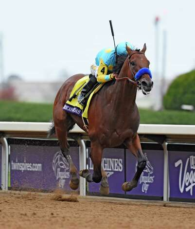 American Pharoah with Victor Espinoza in the saddle goes wins  the Breeders' Cup Classic in track record time Oct. 31, 2015 at Keeneland Race Track in Lexington, KY  (Skip Dickstein/Times Union) Photo: SKIP DICKSTEIN