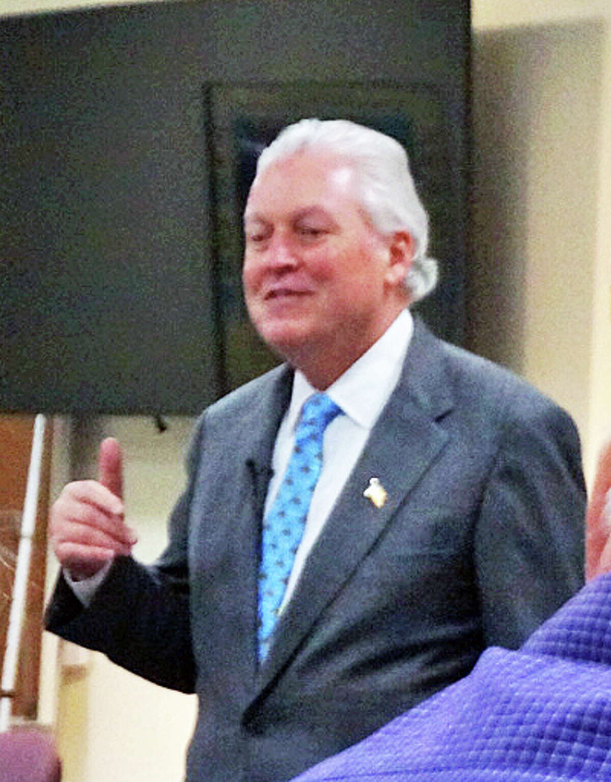 First Selectman Mike Tetreau is seeking re-election to a second term.