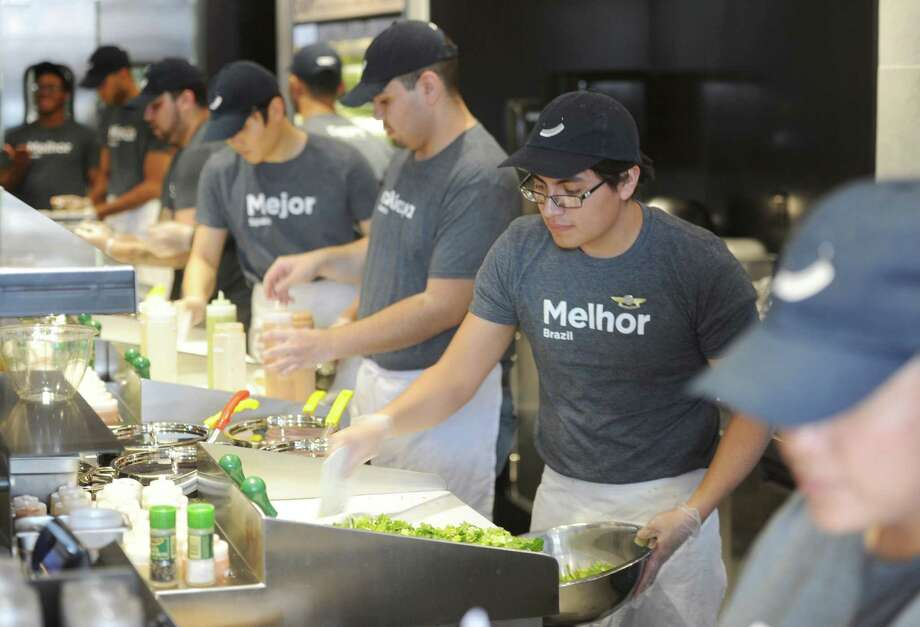 Greenwich, Conn.-based Catterton bought a private equity stake in Chop't Creative Salad, which opened a location in March 2015 at Riverside Commons in Greenwich. Photo: Tyler Sizemore / Tyler Sizemore / Greenwich Time