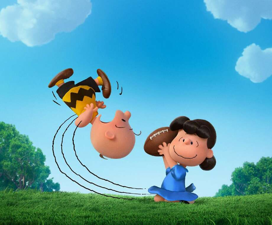 """Lucy and Charlie Brown take the old football gag from the comics page to the big screen in """"The Peanuts Movie,"""" written by Charles Schulz's son Craig and grandson Bryan and Cornelius Uliano. Photo: Twentieth Century Fox, McClatchy-Tribune News Service"""